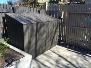 Builder for Waste Bin Corrals. Hide wheelie bins. Rubbish bin box. Tidy backyards. Backyard makeover.