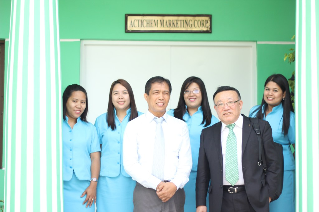 Mr. Felix Peru and Mr. Ando with Actichem staff; March 12, 2013.