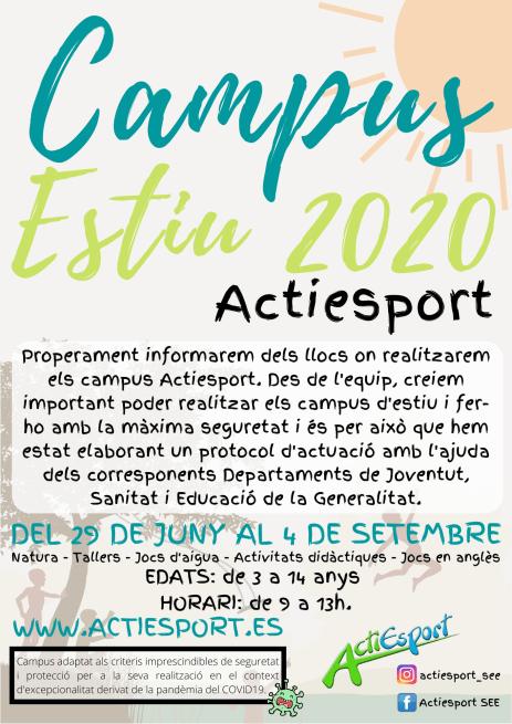 Cartell CAMPUS ESTIU 2020 - GENERAL