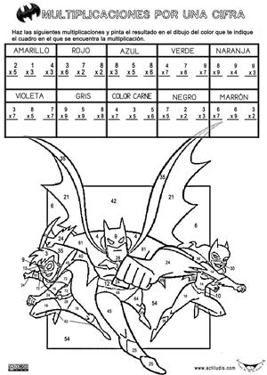 Repasamos las tablas de multiplicar - Actiludis