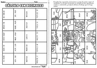 Cálculo con decimales - Actiludis
