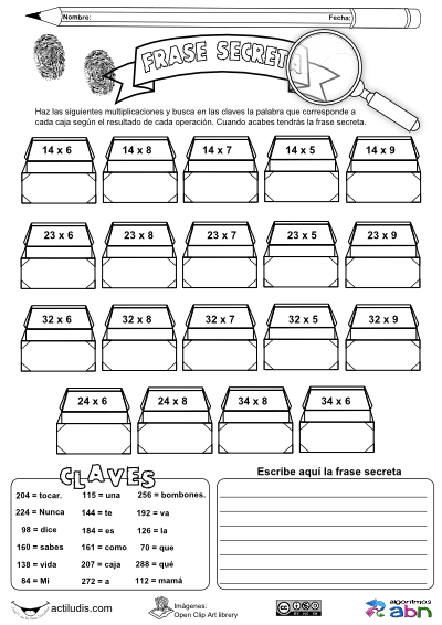 Cálculo mental de multiplicaciones - Actiludis