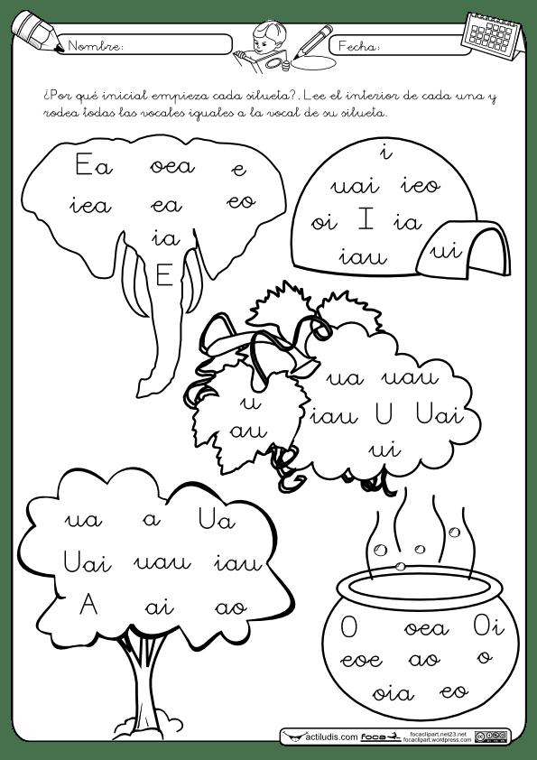 Vocales Letra Cursiva Actiludis