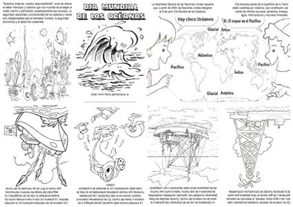 Mini Libro Día Mundial De Los Océanos Actiludis