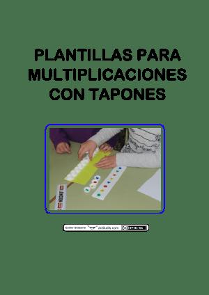 Plantillas multiplicaciones con tapones