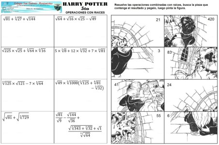 Harry potter operaciones con raices