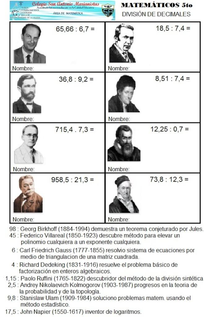 Matematicos 2 divisiones con decimales