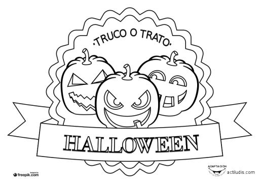Dibujos para colorear Halloween - Actiludis