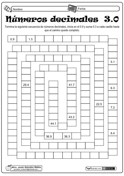 Números decimales 3