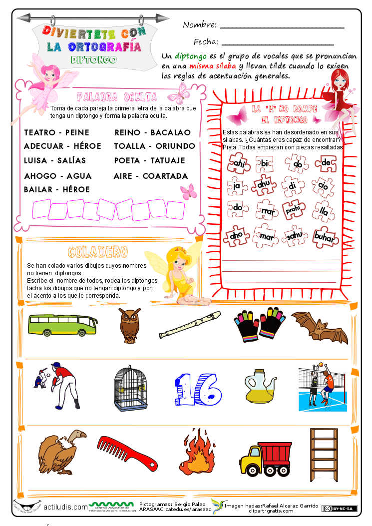 Ortograf A Diptongos Actiludis
