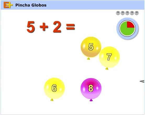 Pincha globos suma