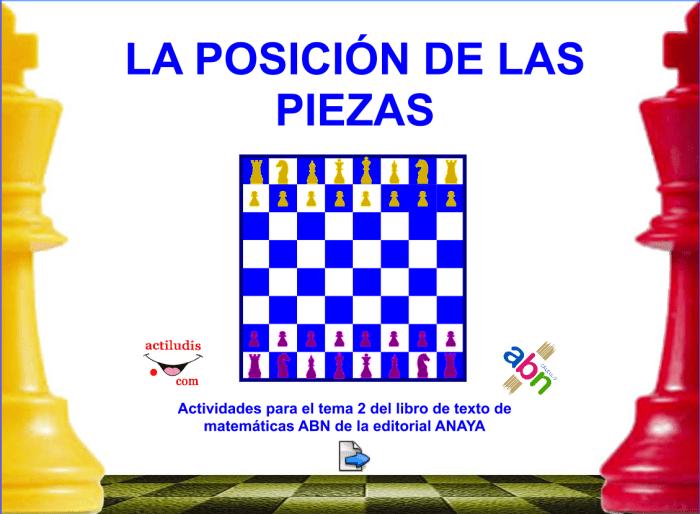 POSICIÓN DE LAS PIEZAS