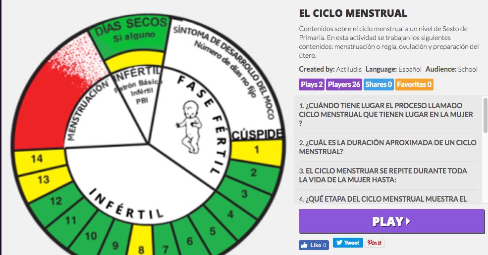 El Ciclo Menstrual - Actiludis