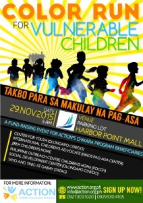 A ColorRun poster for promotion rszd
