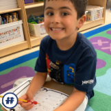 Happy student learning sight words