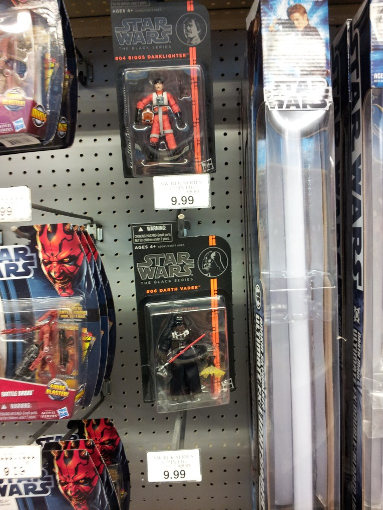At Toys 'R Us in Los Angeles, just the 3 3/4 inch, but still...