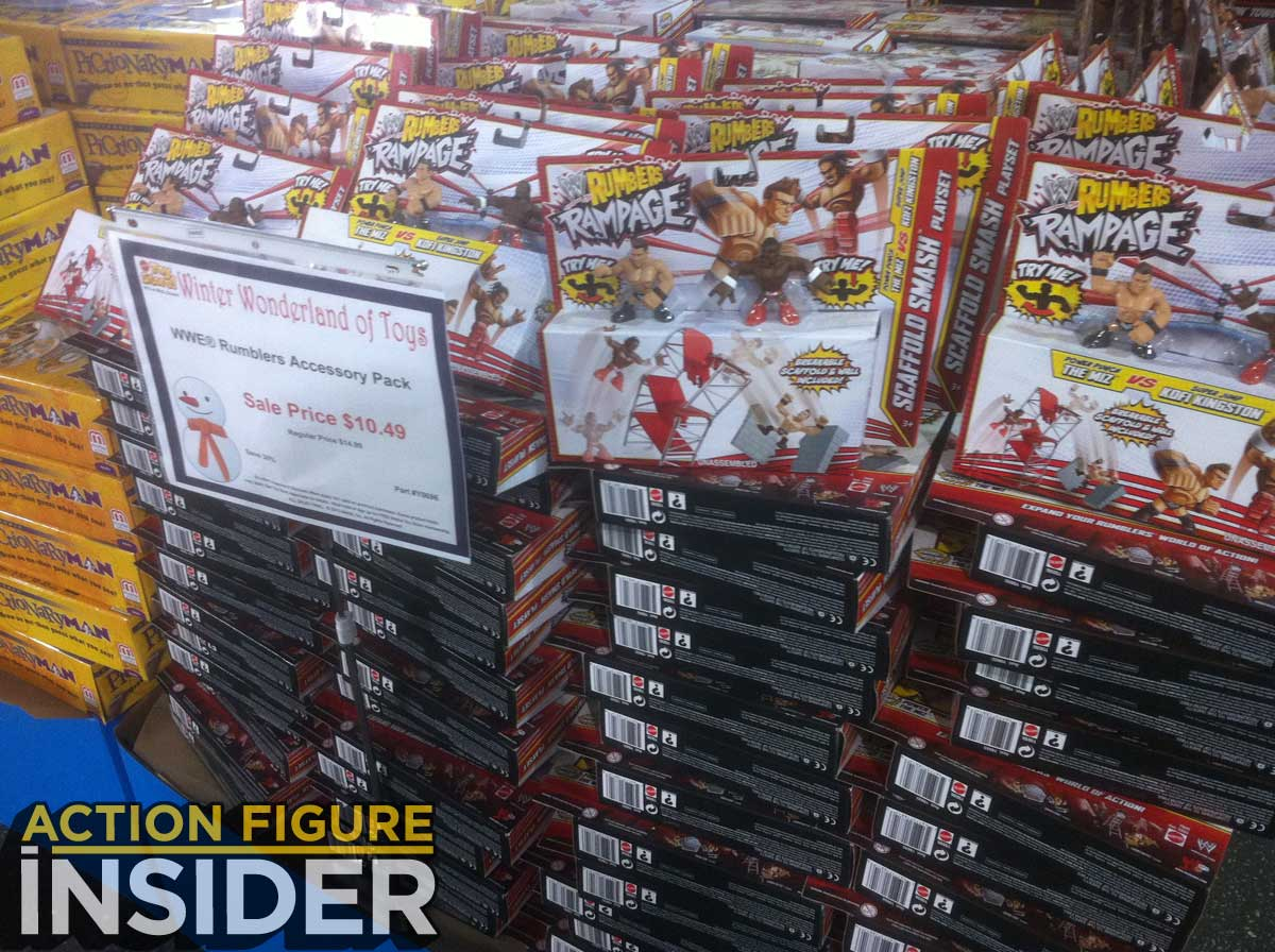 There were several pallets of Monster High products & Action Figure Insider » Mattelu0027s 2013 Annual Holiday Tent Sale