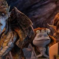"Bog King (voice of Alan Cumming), Griselda (voice of Maya Rudolph) and Marianne (voice of Evan Rachel Wood) are part of a colorful cast of goblins, elves, fairies and imps in ""Strange Magic,"" a madcap fairy tale musical inspired by ""A Midsummer Night's Dream."" Released by Touchstone Pictures, ""Strange Magic"" is in theaters Jan. 23, 2015."
