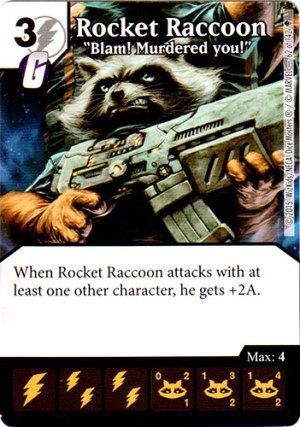 Dice Masters Rocket Raccoon