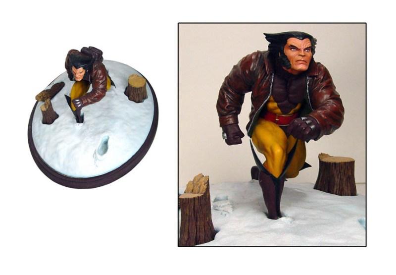 WolverineResinStatue