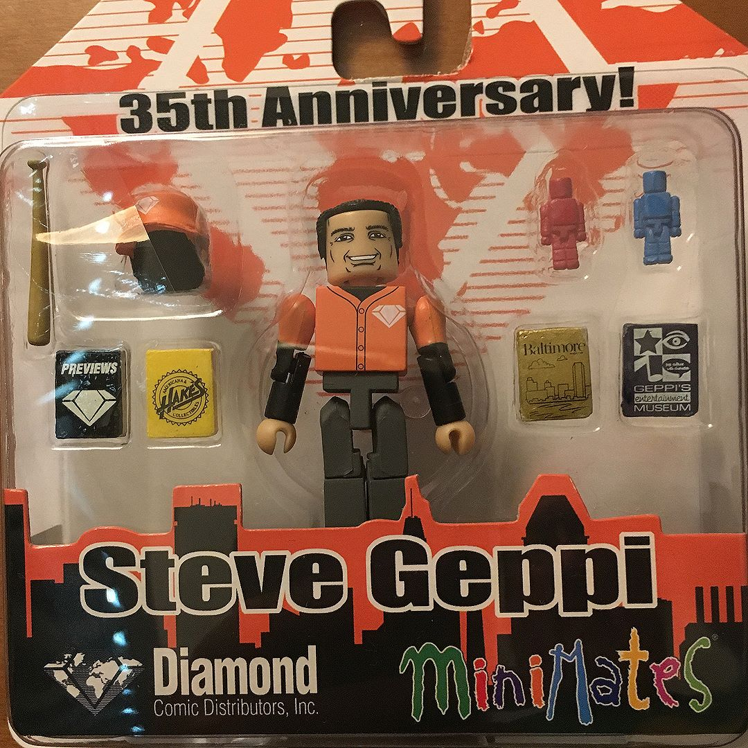 This might be one of the rarest ever. It's of founder Steve Geppi.  It was given out last night to attendees at the Diamond/Geppi/Diamond Select Toys party.