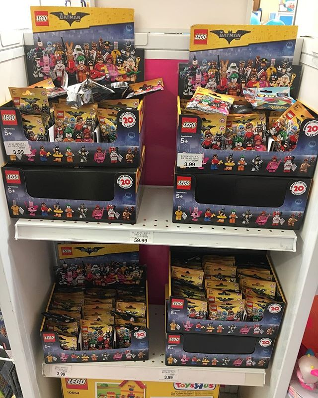 When you hit your local @toysrus looking for the new wave 2 @legobatmanmovie ... and the store has put out EIGHT BOXES of wave 1