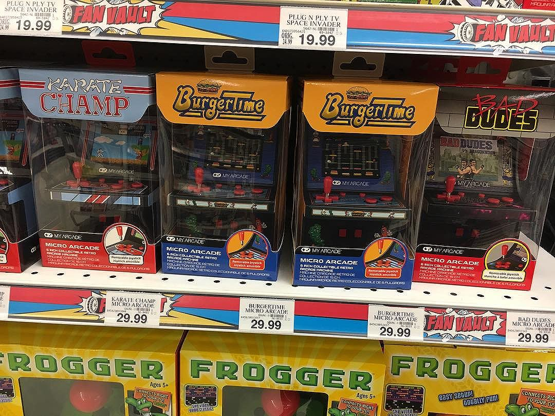 Finally found the @myarcaderetro games in a store. came home with me! @toysrus