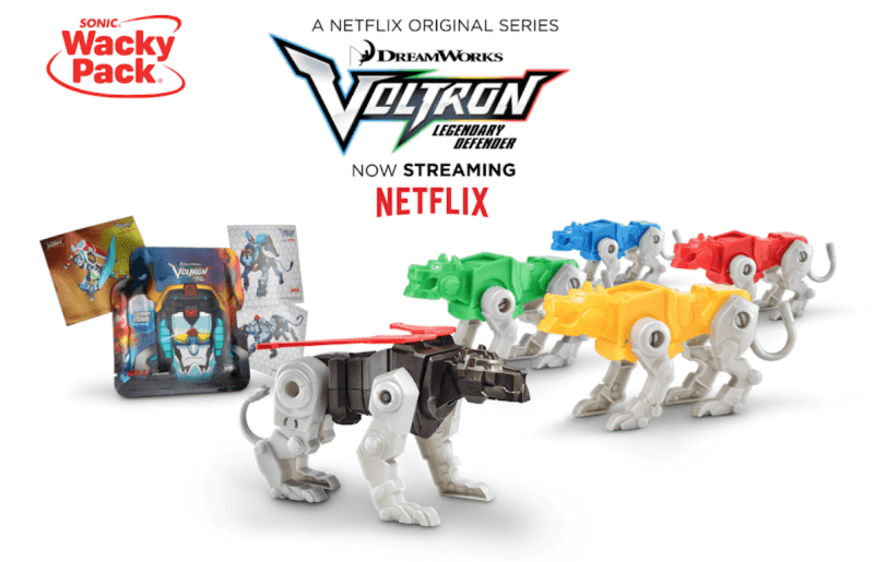 Action Figure Insider Voltron Kids Meal Toys At Sonicdrivein