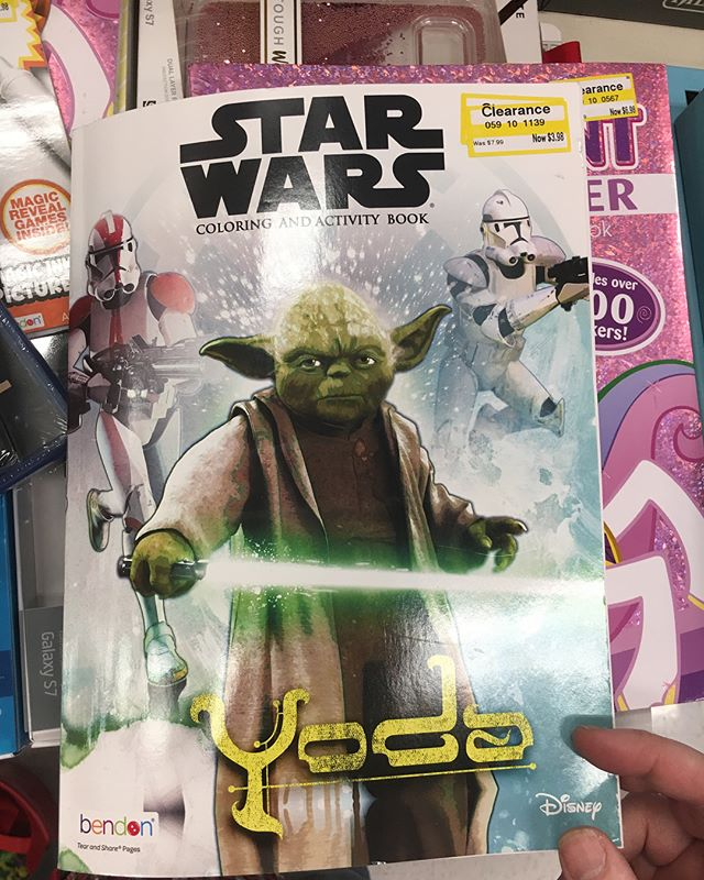I found this coloring book on clearance at @target There are some DEEP CUTS as far as character selection goes!