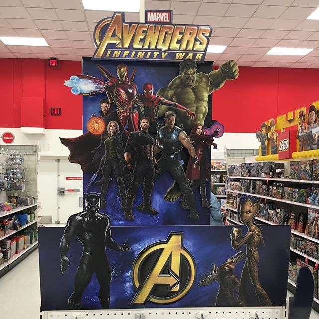 @Target has a nice @avengers endcap that lights up as you walk by.
