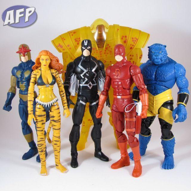 Marvel Legends Nemesis Wave - Nova, Tigra, Black Bolt, Nemesis (BAF), Daredevil, and Beast