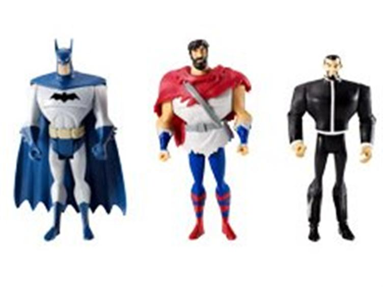 Exclusive JLU Three-Pack - Vandal Savage, Batman, Future Superman