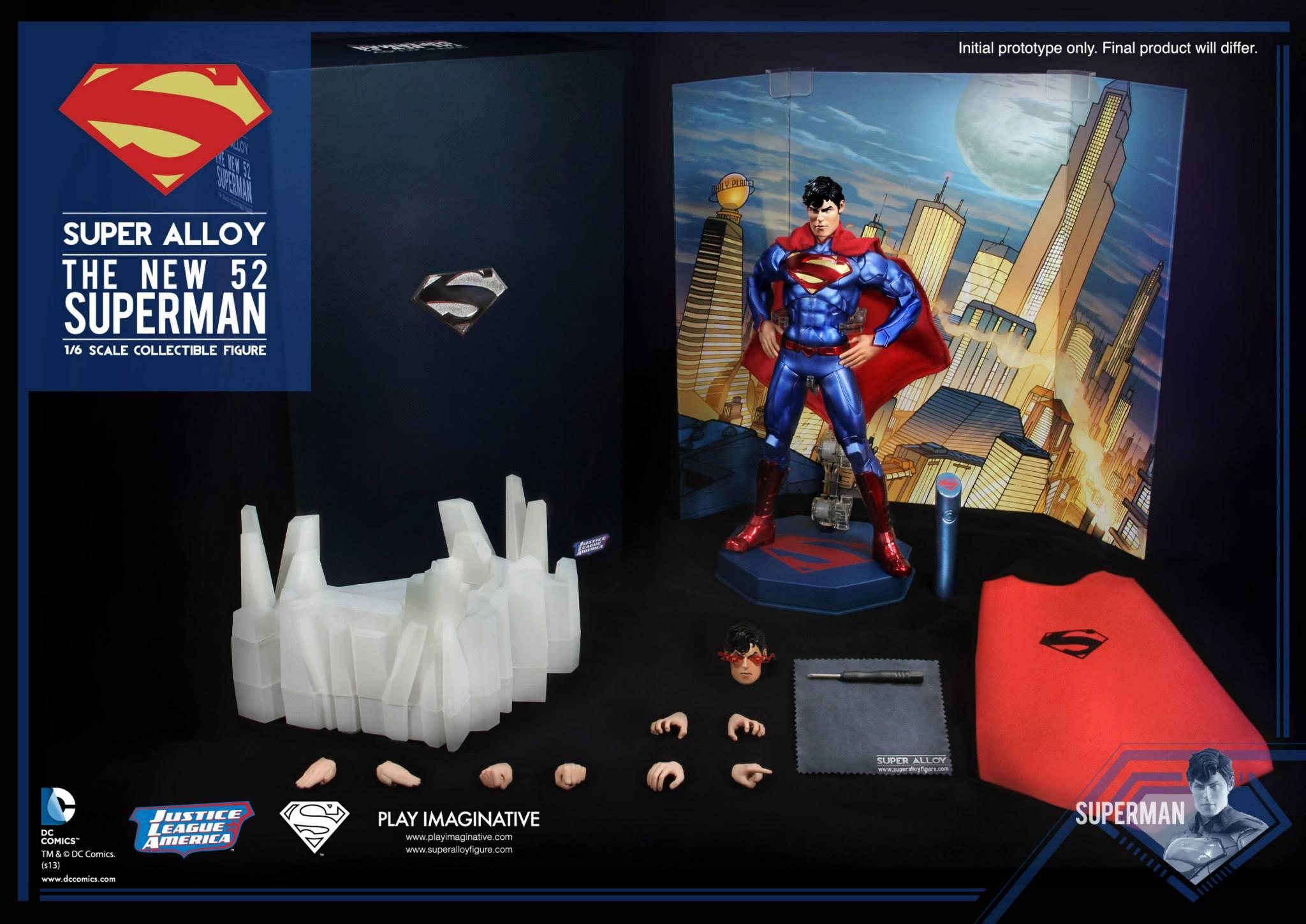 DC COMICS BATMAN THE NEW 52 Figurki akcji i z filmów Super Alloy Superman 1/6 Die Cast 30 cm