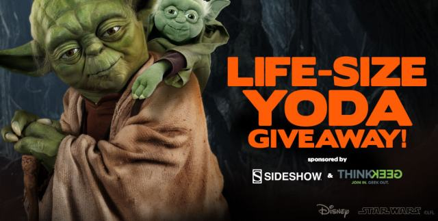 Sideshow ThinkGeek Life-Size Yoda Giveaway