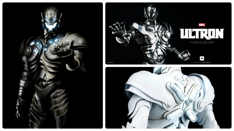 3A Toys Marvel Ultron - classic, stealth, and ghost