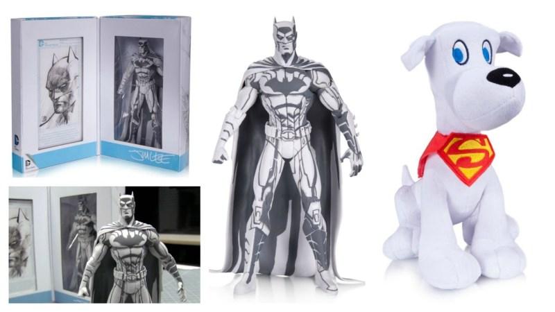 DC Collectibles SDCC 2015 exclusives - Jim Lee Blue Line Batman and Krypto Plush