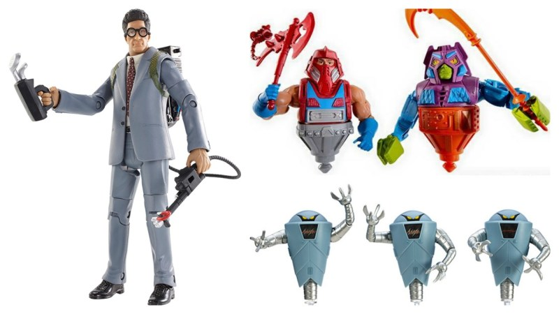 Mattel SDCC 2015 Exclusives - Ghostbusters Egon, Masters of the Univers Classics Rotar vs Twistoid and Hover Robots