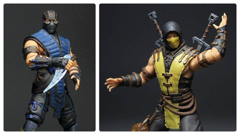 Mezco Mortal Kombat X 12-inch Sub-Zero and Scorpion