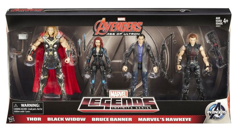 Amazon Exclusive Marvel Legends Avengers 4-Pack - packaged