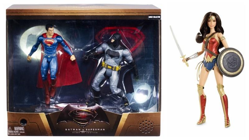 SDCC 2015 Mattel Batman vs Superman 2-pack and Wonder Woman Barbie