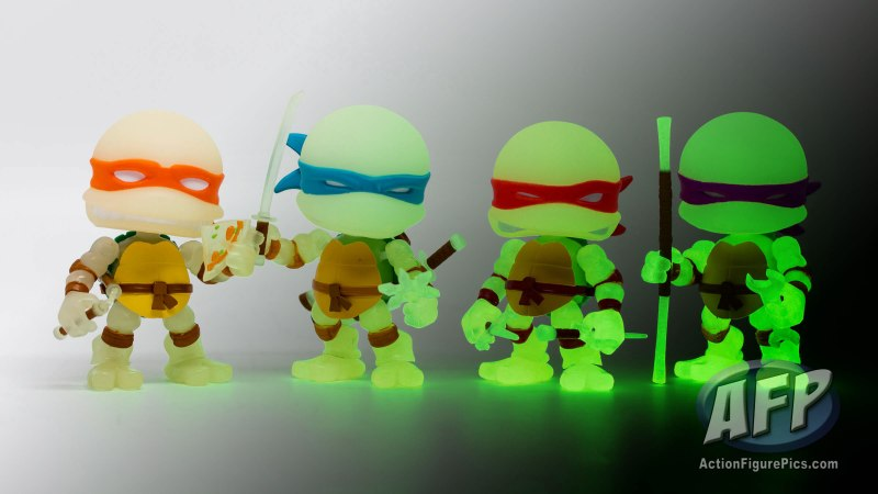 The Loyal Subjects - Teenage Mutant Ninja Turtles Action Vinyls - Radioactive exclusive 1