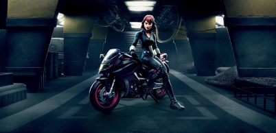 Marvel Legends Series 6-inch Black Widow & Motorcycle
