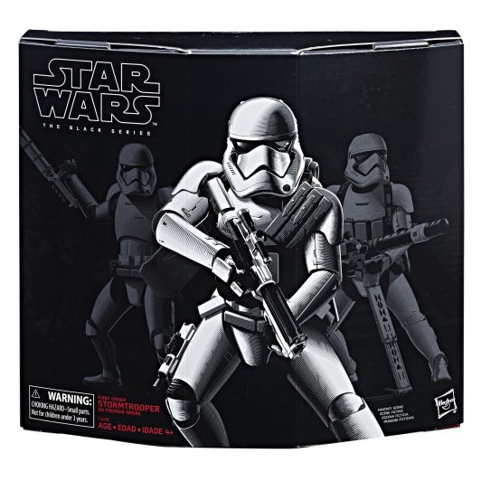 Star Wars The Black Series 6-Inch First Order Stormtrooper with Gear Figure - in pkg