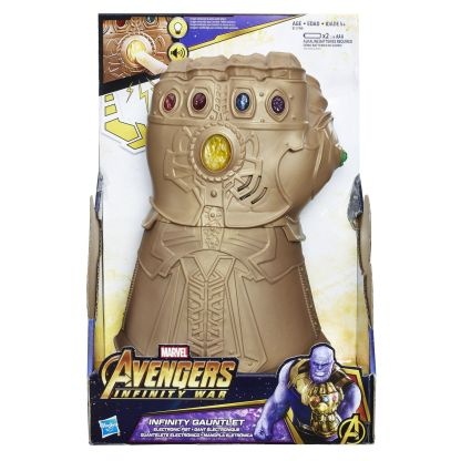 MARVEL AVENGERS INFINITY WAR INFINITY GAUNTLET ELECTRONIC FIST - in pkg