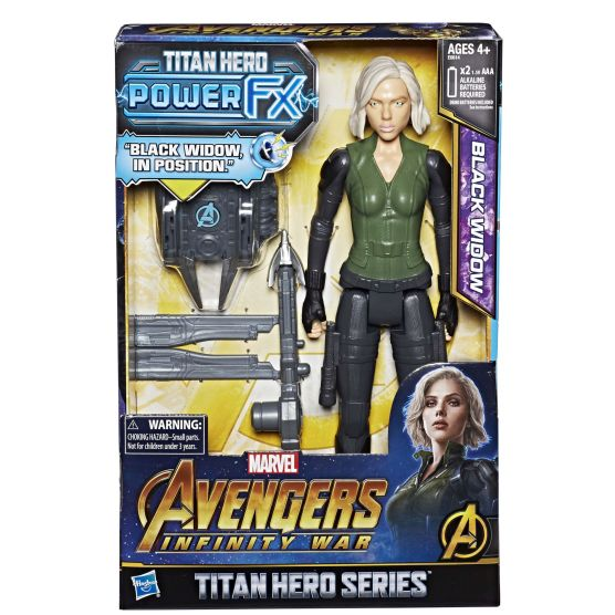MARVEL AVENGERS INFINITY WAR TITAN HERO 12-INCH POWER FX Figures (Black Widow) - in pkg