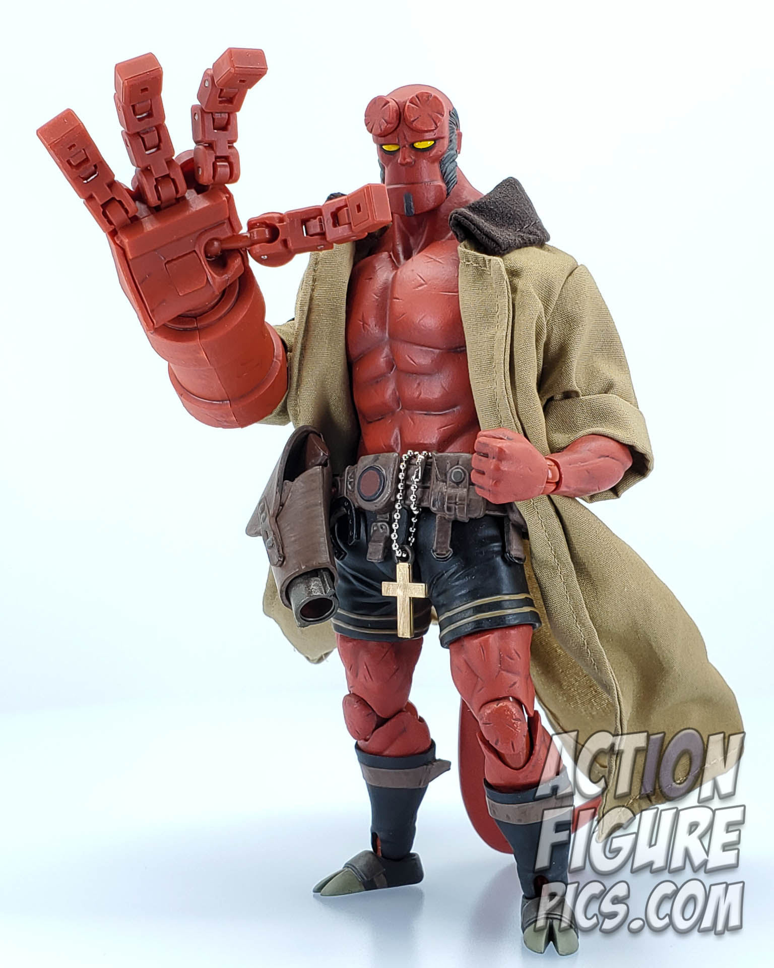 No Figure Black Trench Coat for 1000Toys Hellboy