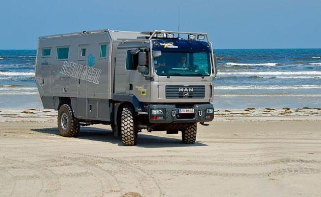 Action Mobil Off Road Vehicles At The Atlantic Coast