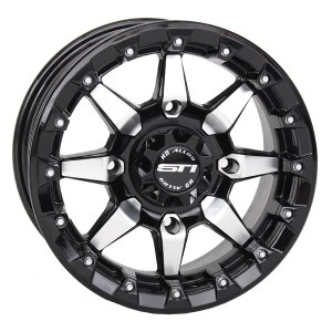 STI HD5 Beadlock Wheel Black Machined