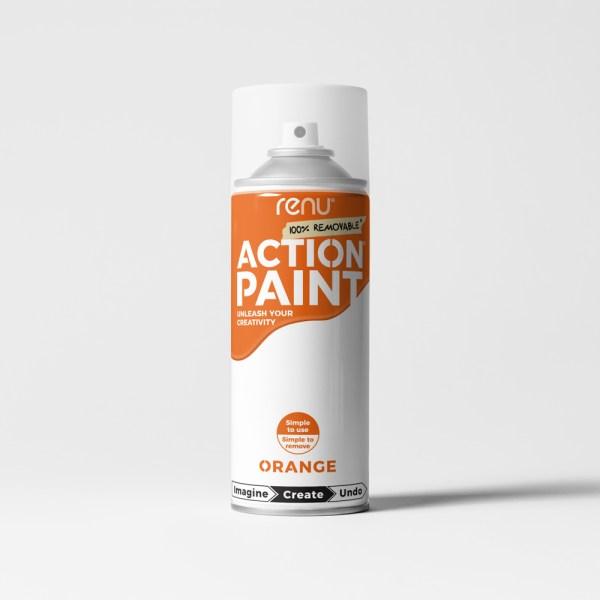 Action Paint - Orange