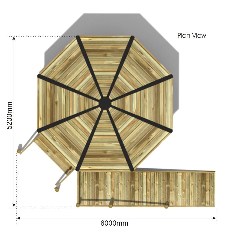 Raised Octagonal Outdoor Classroom plan view